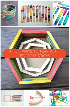 Simple crafts are the best. Check out all the fun you can have with just...popsicle sticks!