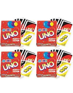 Uno Mini Games 4ct -Games & Activities -Birthday Pinatas & Games -Girls Birthday -Birthday Party Supplies - Party City