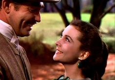 Scarlett and Rhett. Gone with the Wind (1939)