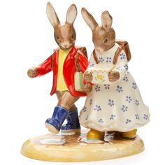 royal doulton figurines | Royal Doulton - Bunnykins Off to School Figurine | Peters of ...