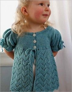 Knitting pattern for lace baby and toddler cardigan sweater