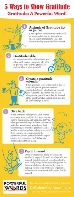 How to teach Gratitude