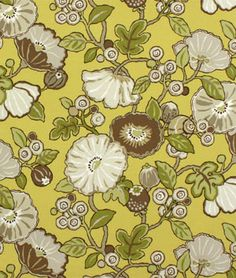 P. Kaufmann Outdoor Hip Floral Chartreuse Fabric