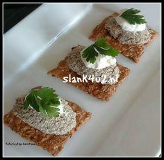 Paté van paddenstoelen - Slank4u2 Creme Fraiche, Starters, Entrees, Stuffed Mushrooms, Snacks, Meals, Dishes, Breakfast, Food