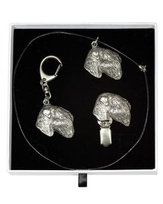 Black Russian Terrier, Terrier Dogs, Casket, Jewelry Sets, Dog Lovers, Drop Earrings, Chain, Elegant, Silver