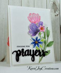Simon Says Stamp Spring Flowers Sending You Prayers Sympathy Card