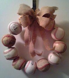Baseball Wreath  Easy and fun to make!
