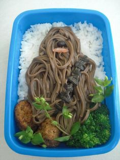 "Geeky foods!! :D   Chewbacca bento and ""Where the Wild Things Are""  too.. Angry Birds pizza, Pac Man dumplings, Batman latte, and more!"