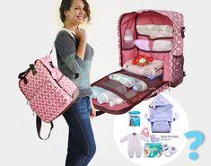 Quoi emporter avec vous dans votre joli sac à langer ? La liste de tout ce qu'il vous faut pour des sorties sereines avec bébé.