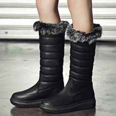 EricDress - EricDress Ericdress Charming Furry Knee High Snow Boots - AdoreWe.com
