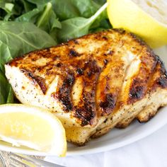 Enjoy a healthy and delicious meal ready in just minutes! Easy and delicious grilled halibut with honey and lemon will have you falling in love with fish!
