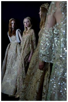 Backstage at Elie Saab Couture Fall 2015