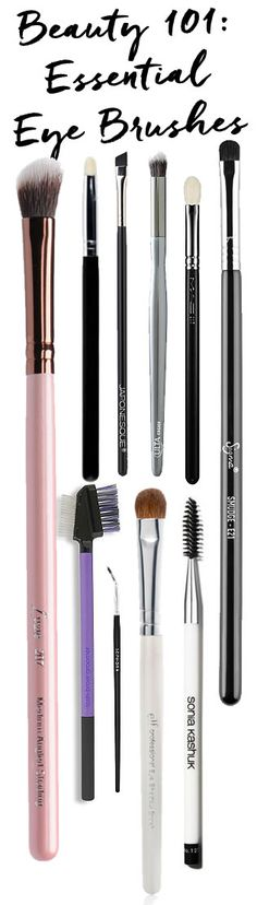 Beauty 101: Essential Eye Brushes http://blog.pampadour.com/beauty-101-essential-eye-brushes/  #makeup #makeupbrushes #eyeshadow