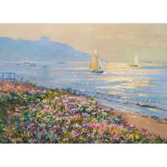 Morning Light across the Bay, Falmouth. Ted Dyer Limited Edition Print