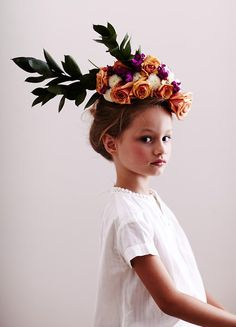"""...and then you carefully arrange the flowers from the dining room table on your head like this."" - Quinoa #MIWDTD"