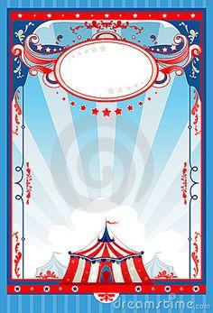 Cartel del circo. Fotografía de archivo libre de regalías. Para rellenar.