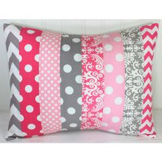 Girl Pillow Cover Nursery Cushion Cover Nursery Decor Crib Bedding... ($25) ❤ liked on Polyvore featuring home, children's room, children's decor, decorative pillows, home & living, home décor and silver