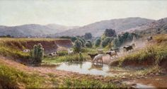 Antoine GADAN (1854-1934) Le mont Eydough et la Vallée du Ruisseau d'or, env