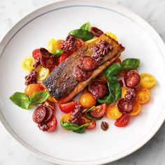 Ready in just 11 minutes, Jamie Oliver's recipe for Chorizo and Salmon, from the book of the Channel 4 series '5 ingredients'. Easy Food, combines winning flavours.