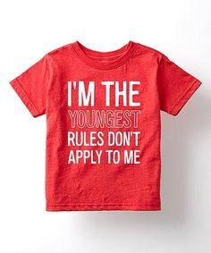 Look what I found on #zulily! Heather Red 'Rules Don't Apply to Me' Tee - Toddler & Kids #zulilyfinds