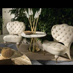 'TAILORED' BUTTONED LOW SIDE CHAIR ART 2100 - Tailored side chairs in luxury leather.