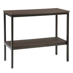 Stratford Wicker 2-tier Buffet Table