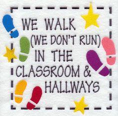 We Walk In The Classroom And Hallways