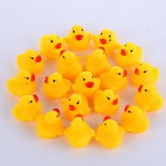 11cm Baby Rubber Race Squeaky Big Yellow Duck Kids Bathing Floating Toys Hot