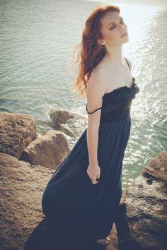 EDERA Velvet leaves overlap throughout the bodice over a skirt of silk tulle