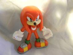 "Sega Genesis Sonic the Hedgehog Red Knuckles PVC Action Figure 3"""