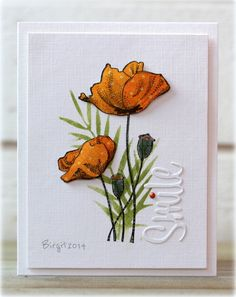#papercraft #card - TLC485 Smile by Biggan - Cards and Paper Crafts at Splitcoaststampers
