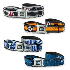 """These Star Wars Belts will make you feel like you are buckling up in the cockpit of an X-Wing fighter.  They fit waists from 28"""" - 46"""" and you can choose Empire, Falcon Blueprint, R2-D2, or Rebel. They are a super stylish and awesomely geeky way to hold your pants up. Show your love"""