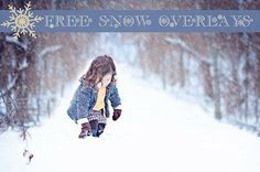 Free snow overlay from Pretty Presets!