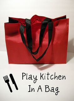 luck and bliss: Play Kitchen In A Bag Homemade Christmas Gifts, Christmas Gifts For Kids, Homemade Gifts, Holiday Fun, Christmas Ideas, Kids Fun, Diy For Kids, Sewing Toys, Sewing Crafts