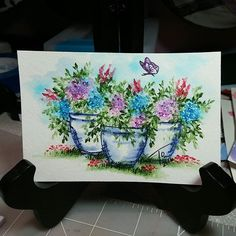 #aistamps #watercolortheartimpressionsway #watercolor #flowers Watercolor Projects, Watercolour Tutorials, Watercolor Sketch, Watercolor Cards, Watercolor Paintings, Watercolor Flowers, Watercolor Ideas, Watercolor Techniques, Handmade Card Making