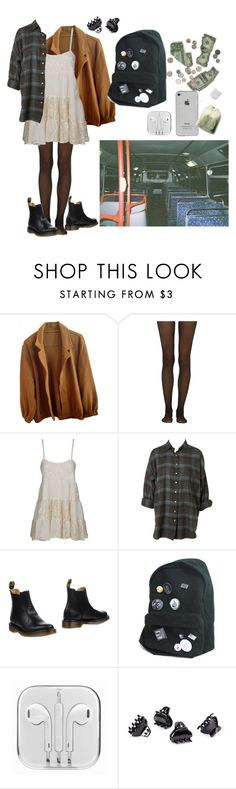 """alison by slowdive"" by egcarl99 ❤ liked on Polyvore featuring American Apparel, Fogal, Don't Ask Amanda, Dr. Martens and H&M"