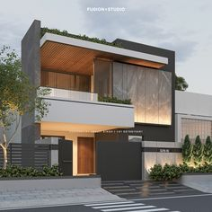 House Outside Design, House Gate Design, Bungalow House Design, House Front Design, Small House Design, Facade Design, Modern Exterior House Designs, Modern House Facades, Modern Architecture House