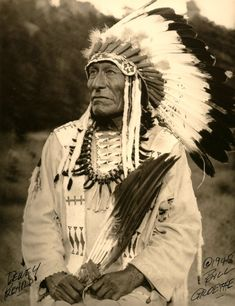 Chief Dewey Beard or Wasu Maza ('Iron Hail', 1858-1955) was Minneconjou Lakota, fought in Battle of Little Big Horn as teenager. After George Armstrong Custer's defeat, Wasu Maza followed Sitting Bull into exile in Canada, then back to So Dakota, where he lived on Cheyenne River Indian Reservation. When he died in 1955, at age of 96, Dewey Beard was last known Lakota survivor of Battle of Little Big Horn, & last know survivor of Wounded Knee Massacre.