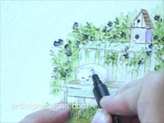 How to video: Art Impressions: Wonderful Water Color ...project 4 part 2