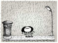 Image shared by Ali Robles. Find images and videos about Happiness happy, Rainfall and mafalda on We Heart It - the app to get lost in what you love. Mafalda Quotes, H Comic, Frases Humor, Love Deeply, Calvin And Hobbes, Illustrations, Rainy Days, We Heart It, Life Is Good