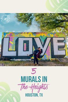 Love mural. Check out our blog post on the best and most Instagrammable murals in the heights. Things to do in Houston. Houston Street, Houston Tx, Houston Brunch, Houston Murals, Cypress Texas, Houston Skyline, Houston Heights, Texas Travel, Photo Location