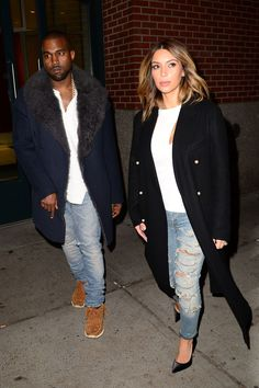 Kim and Kanye's Best Matching Looks