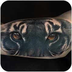 Tiger Black tattoo ❤ kishan ❤