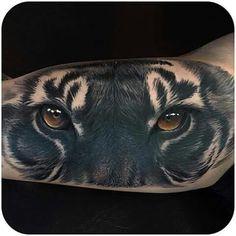 Tiger Black tattoo ❤ kishan ❤