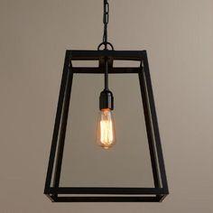 Four-Sided Glass Hanging Pendant Lantern | World Market