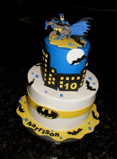 Batman Cake | I made this for a Mr. Harrison... Little dude … | Flickr
