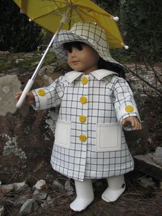Inspiration Ready for the rain - Doll Clothes By Shirley