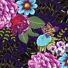 Garden Bouquet Emma s Garden - Butterfly Fabric - Michael Miller - FQ or more! Tissu Michael Miller, Michael Miller Fabric, Fabric Patterns, Print Patterns, Flower Patterns, Creative Textiles, Baby Girl Bedding, Modern Crafts, Fabulous Fabrics