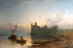 Caernarvon Castle at Sunset James Francis Danby - 1855