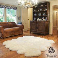 Really big Sheepskin rug.